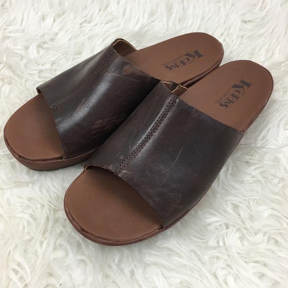96a6a3b0a43 Kork-Ease Shoes - Korks by Kork-Ease brown leather slide sandals 10